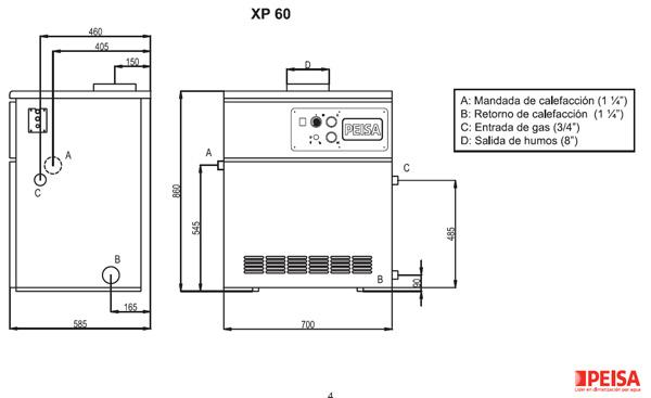 Assistgas calderas peisa sistema de aire acondicionado for Cuanto cobran por instalar una caldera de gas